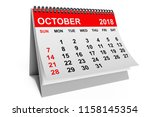 2018 year calendar. october... | Shutterstock . vector #1158145354