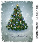 vintage greeting card with... | Shutterstock .eps vector #115814581
