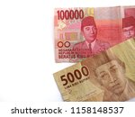 up close of 100000 and 5000... | Shutterstock . vector #1158148537