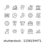 set of money outline icons...   Shutterstock .eps vector #1158154471