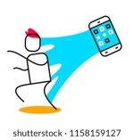 vector business illustration of ... | Shutterstock .eps vector #1158159127