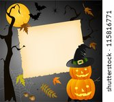 halloween card with place for... | Shutterstock .eps vector #115816771