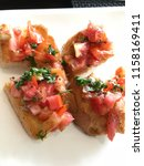 delicious homemade gluten free... | Shutterstock . vector #1158169411