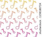 degraded line quarter musical... | Shutterstock .eps vector #1158180724