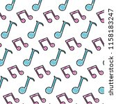 doodle 2 eighth note and... | Shutterstock .eps vector #1158183247