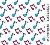 color 2 eighth note and quarter ... | Shutterstock .eps vector #1158183337