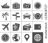 travel and tourism icon set.... | Shutterstock .eps vector #115818727