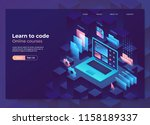 landing page concept  header... | Shutterstock .eps vector #1158189337