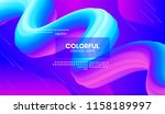 abstract wave liquid shape.... | Shutterstock .eps vector #1158189997