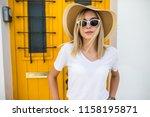 outdoor portrait of young... | Shutterstock . vector #1158195871
