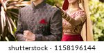 sweet indian bride about to... | Shutterstock . vector #1158196144