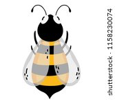 cute bee natural insect animal | Shutterstock .eps vector #1158230074