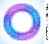 geometric frame from circles ... | Shutterstock .eps vector #1158231337