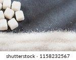 refined white sugar powder and... | Shutterstock . vector #1158232567