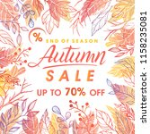 autumn special offer banner... | Shutterstock .eps vector #1158235081