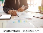 business man working at office... | Shutterstock . vector #1158238774