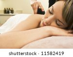 a young woman relaxing at a... | Shutterstock . vector #11582419
