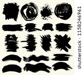 collection of smears with black ... | Shutterstock .eps vector #1158246961