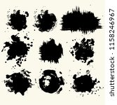 collection of smears with black ... | Shutterstock .eps vector #1158246967
