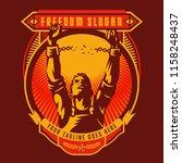 revolution union badge of...   Shutterstock .eps vector #1158248437
