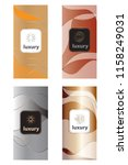 luxury packaging design set... | Shutterstock .eps vector #1158249031