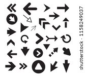 arrow icon set isolated on... | Shutterstock .eps vector #1158249037