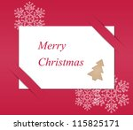 merry christmas paper... | Shutterstock .eps vector #115825171