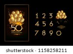 set and bundle anniversary... | Shutterstock .eps vector #1158258211