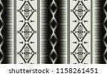 aztec geometric seamless... | Shutterstock .eps vector #1158261451