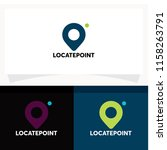 locate point logo design... | Shutterstock .eps vector #1158263791