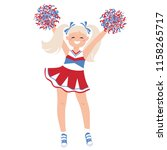 cheerleader girl in bright... | Shutterstock .eps vector #1158265717