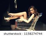 shopper  shopaholic  shopping ... | Shutterstock . vector #1158274744