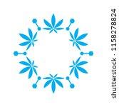 cannabis frosty flower logo...   Shutterstock .eps vector #1158278824