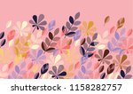 flat colorful fall leaves... | Shutterstock .eps vector #1158282757