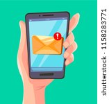 email message concept. new ... | Shutterstock .eps vector #1158283771