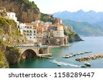 stunning view of atrani village ... | Shutterstock . vector #1158289447