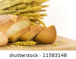 fresh baked bread sliced and... | Shutterstock . vector #11583148