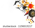 halloween holiday frame with... | Shutterstock . vector #1158315217