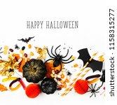 halloween holiday background... | Shutterstock . vector #1158315277