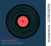 vinyl record vector musical... | Shutterstock .eps vector #1158316204