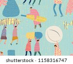 medical people seamless pattern.... | Shutterstock .eps vector #1158316747