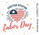 happy labor day. vector logo.... | Shutterstock .eps vector #1158317731