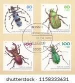 germany circa 1993 a stamp... | Shutterstock . vector #1158333631