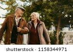 portrait of happy retired man... | Shutterstock . vector #1158344971