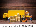miniature warehouse workers... | Shutterstock . vector #1158349834