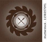 crossed swords icon inside...   Shutterstock .eps vector #1158357091