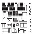 furniture icons set  with ... | Shutterstock .eps vector #1158365017