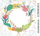 vector background with wreath... | Shutterstock .eps vector #1158381811