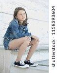 portrait of beautiful girl 10... | Shutterstock . vector #1158393604