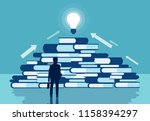 knowledge and business... | Shutterstock .eps vector #1158394297